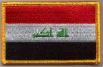 Iraq Embroidered Flag Patch, style 08.